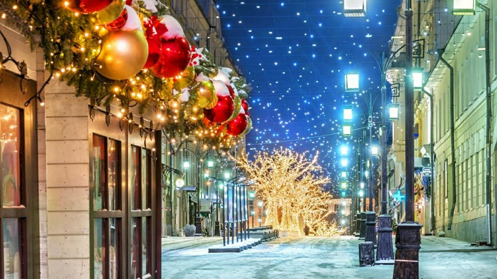 Chrismas in Moscow wallpaper