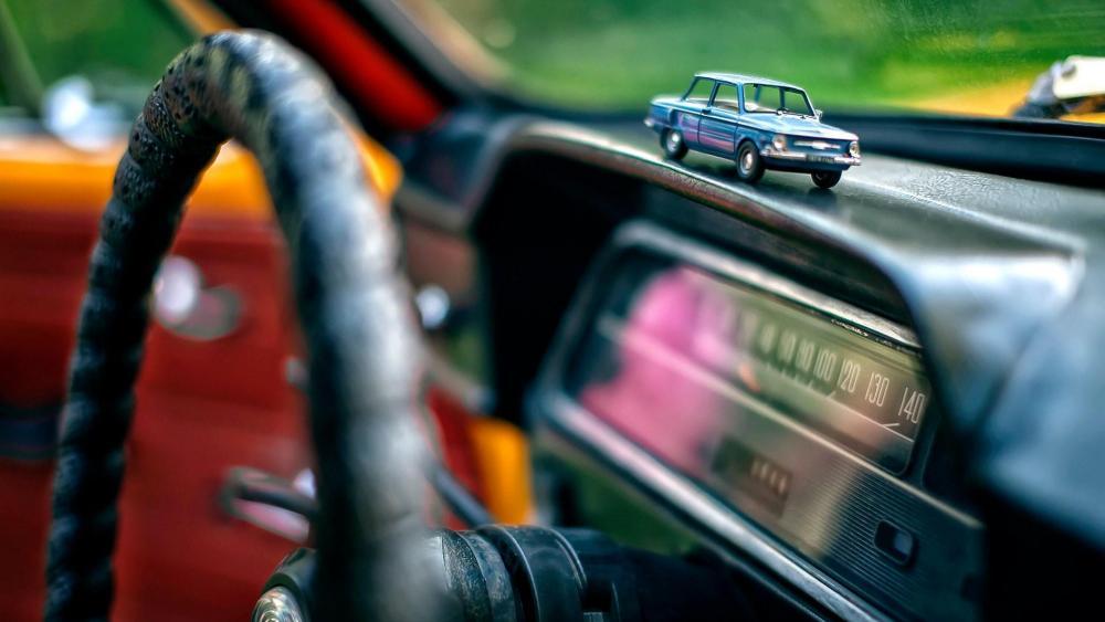 Car in car wallpaper