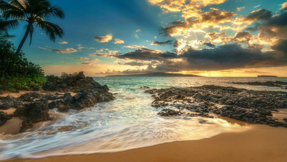 USA, Hawaii, Island of Maui, Makena Beach wallpaper