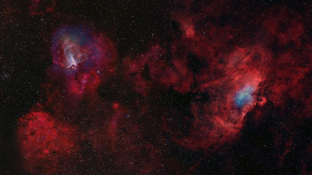 Astrofotography of nebulas wallpaper