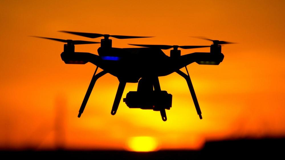 Drone in the sunset wallpaper