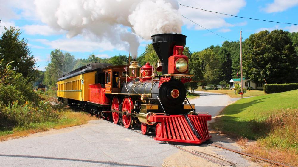Classic old steam locomotive wallpaper
