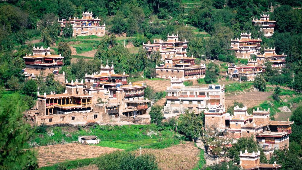 Jiaju Tibetan Village (Danba County, China) wallpaper