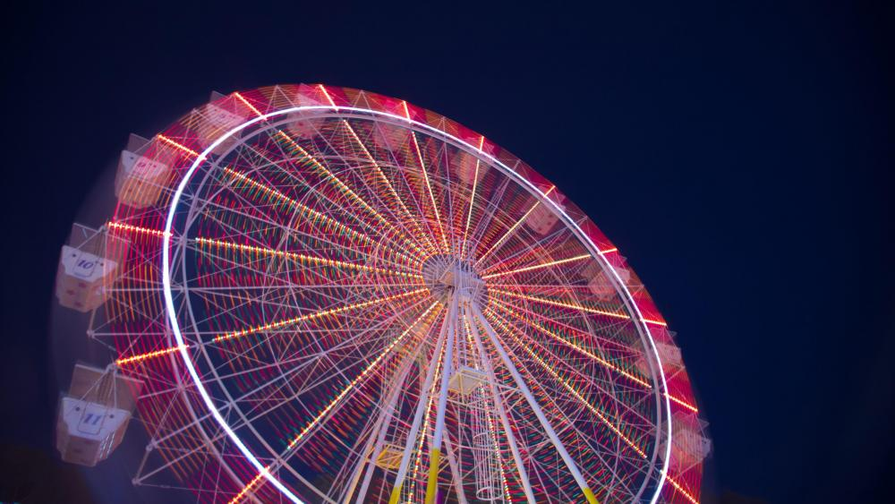 Ferris wheel at night wallpaper