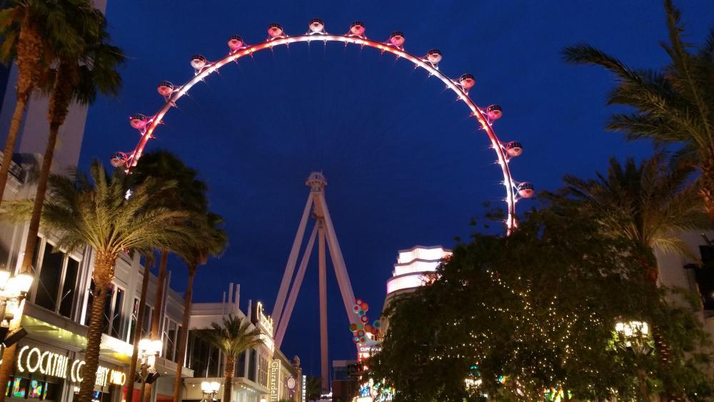 Ferris wheel in Las Vegas wallpaper