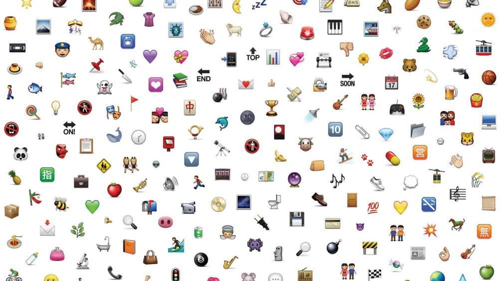 Cool emoji icons wallpaper