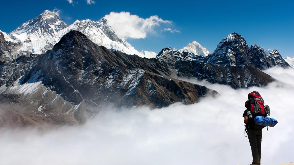 Looking to Everest wallpaper