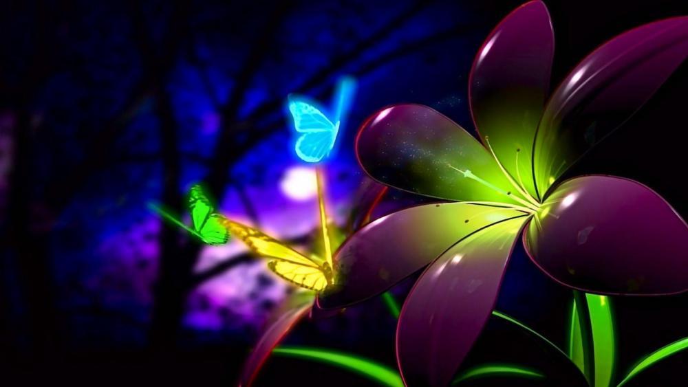 Luminous Butterfly wallpaper