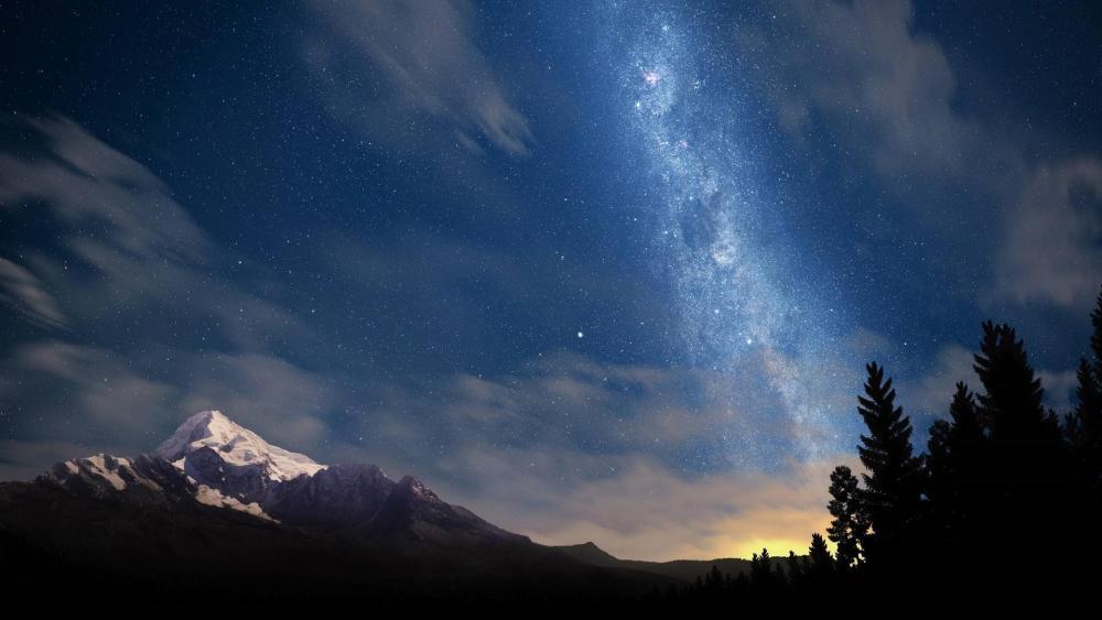 Galaxy Mountain wallpaper