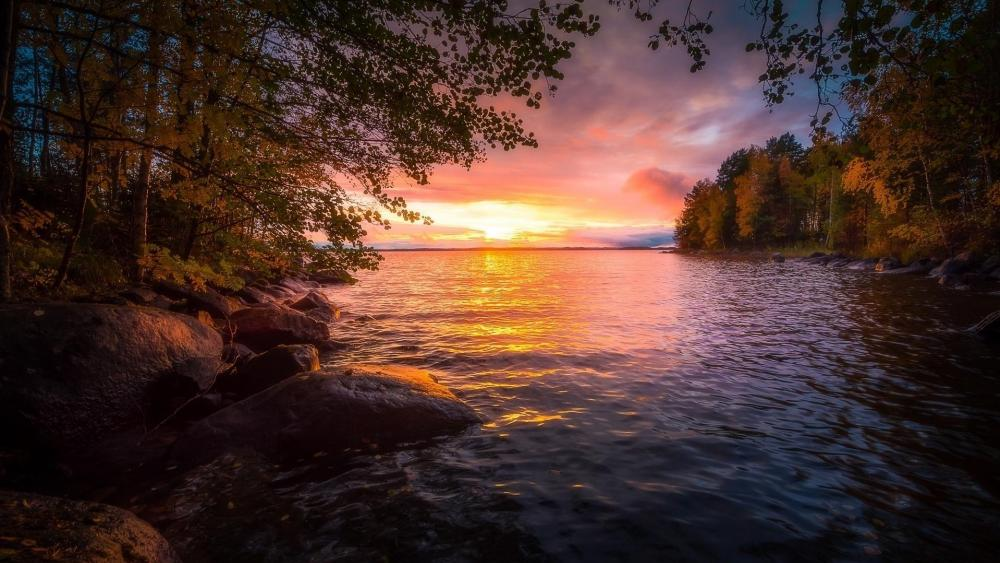 Lake Nasijarvi (Finland) wallpaper