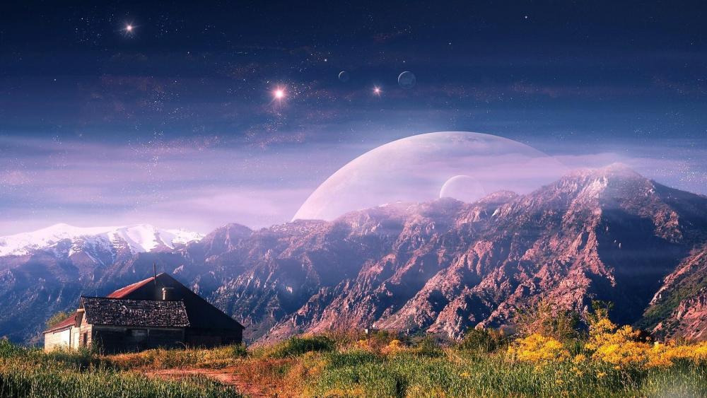 Fantasy landscape wallpaper