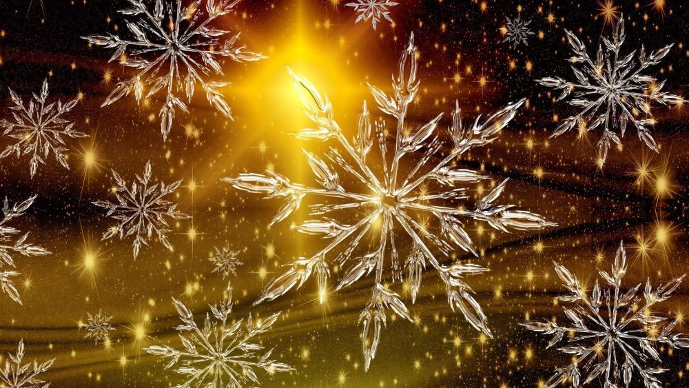 Christmas ice crystal wallpaper