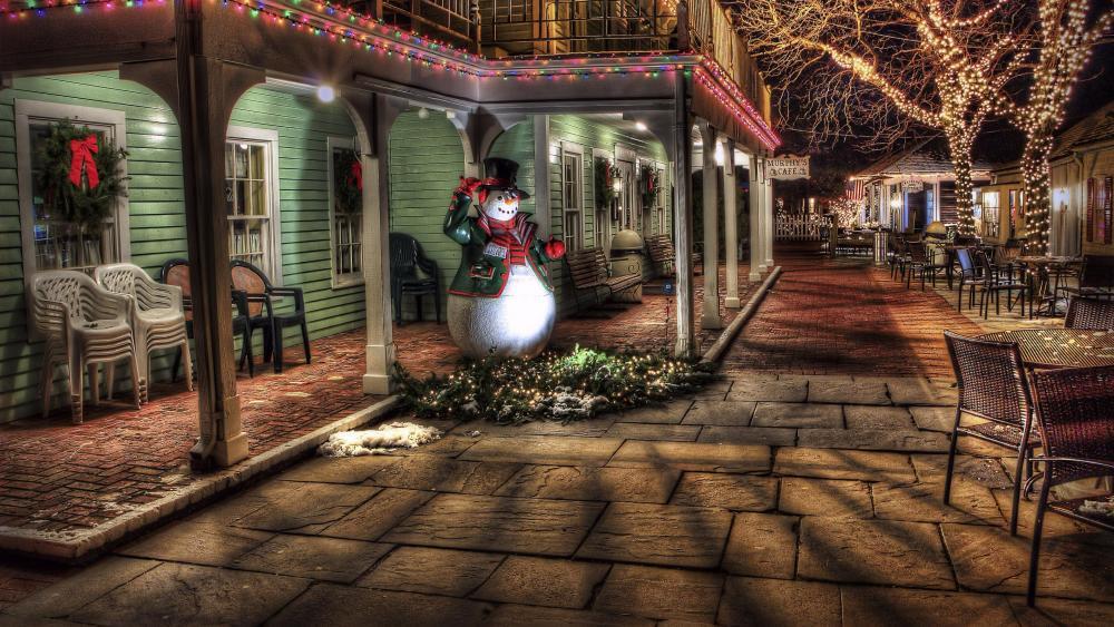 Christmas Snowman ⛄️ wallpaper