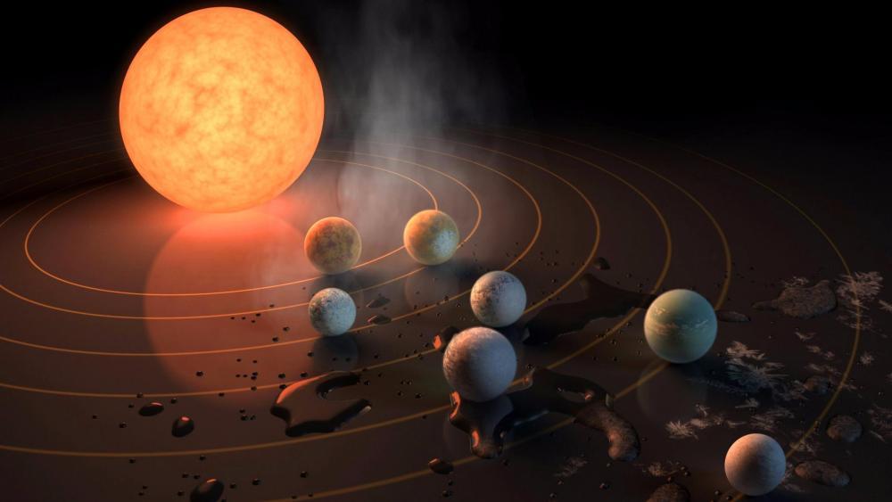 Alien solar system wallpaper