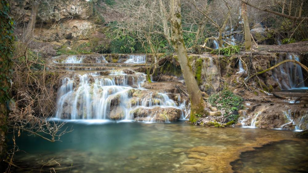 Magical waterfall wallpaper