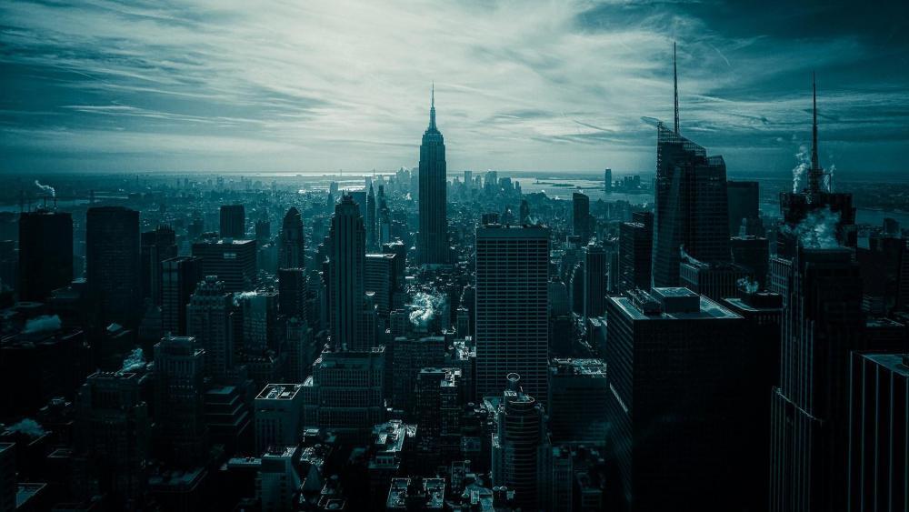 Manhattan view wallpaper