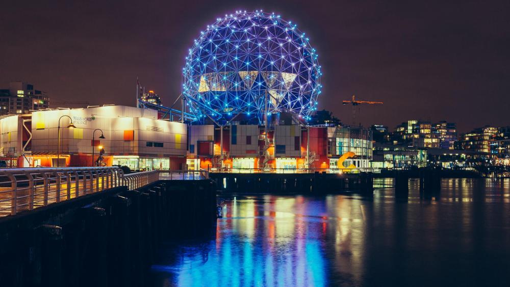 Vancouver at night wallpaper
