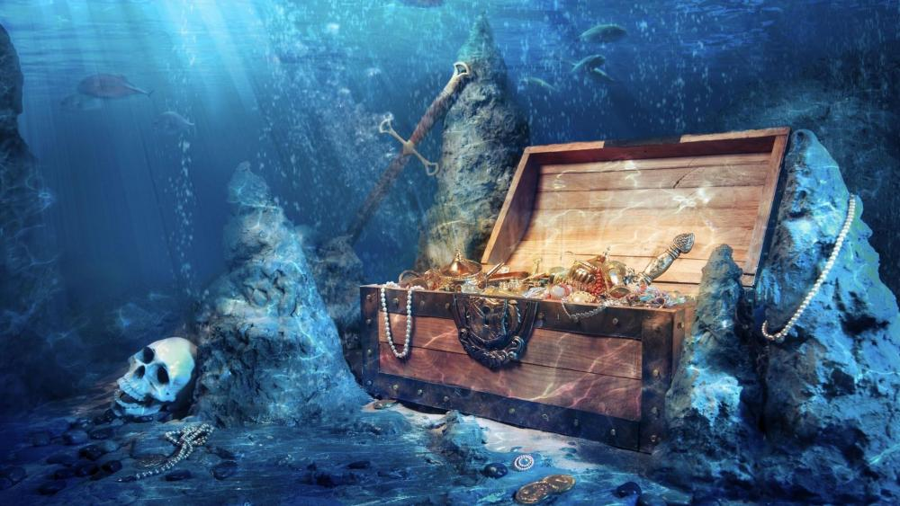 Pirate treasure chest wallpaper