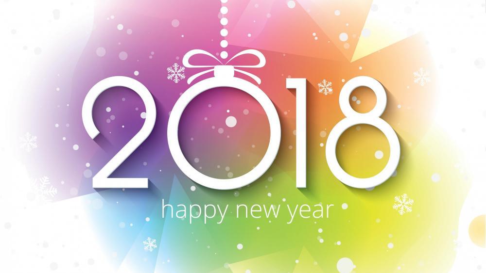 Happy New Year! 2018 wallpaper
