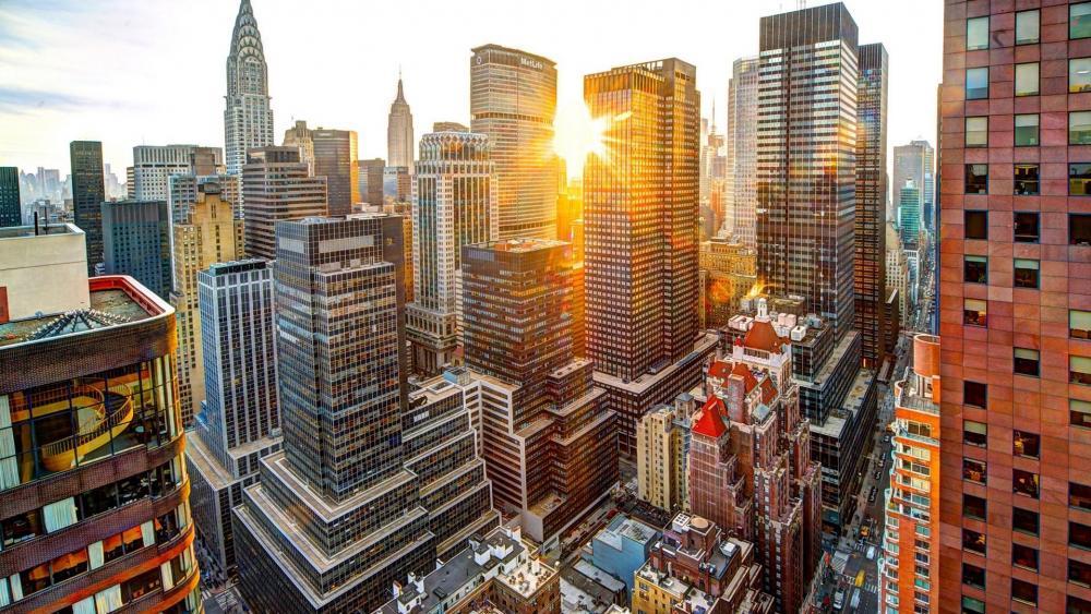 Manhattan sunlight wallpaper