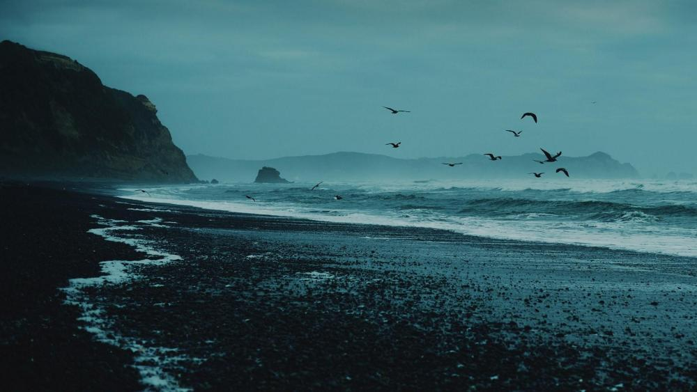 Pacific Ocean in Chile wallpaper