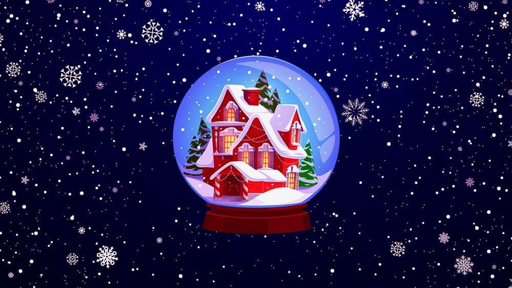 Glass Snowball Christmas Souvenir wallpaper