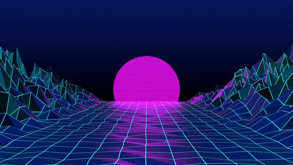 Retrowave art wallpaper