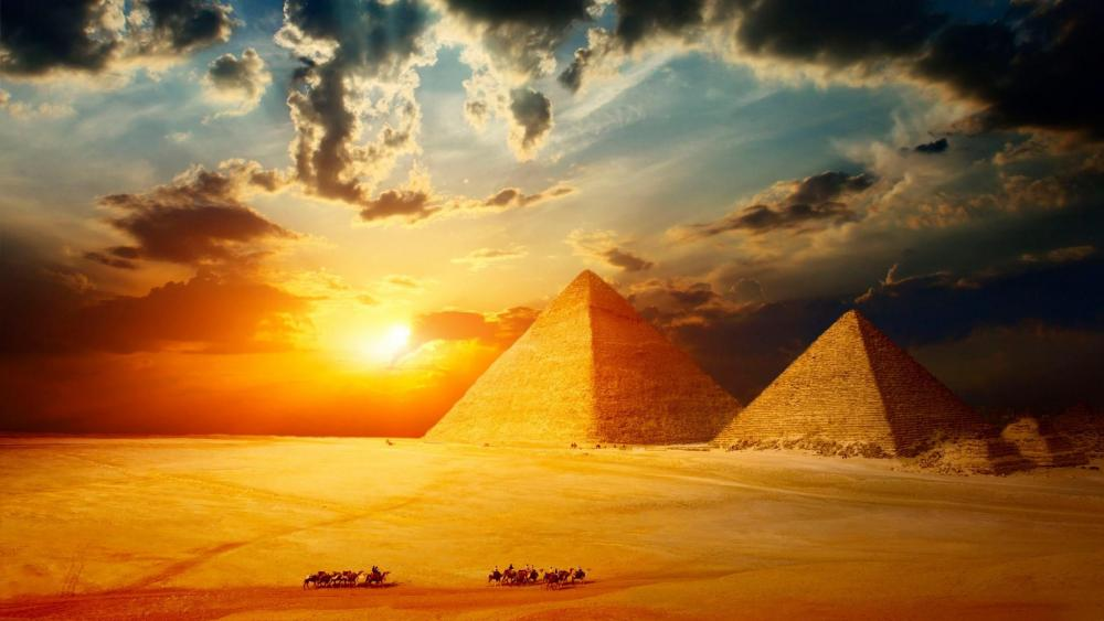 Giza Pyramid Complex wallpaper