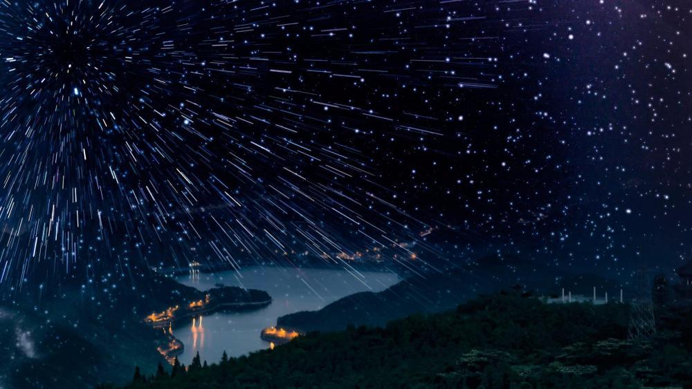 Leonid meteor shower wallpaper