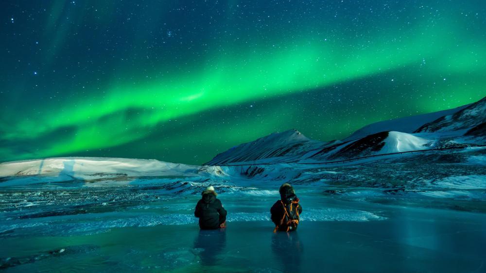 Northern lights in Alaska wallpaper