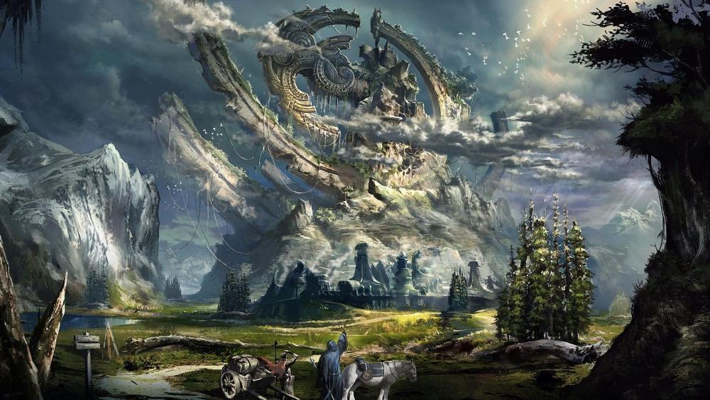 Fantasy scenery wallpaper