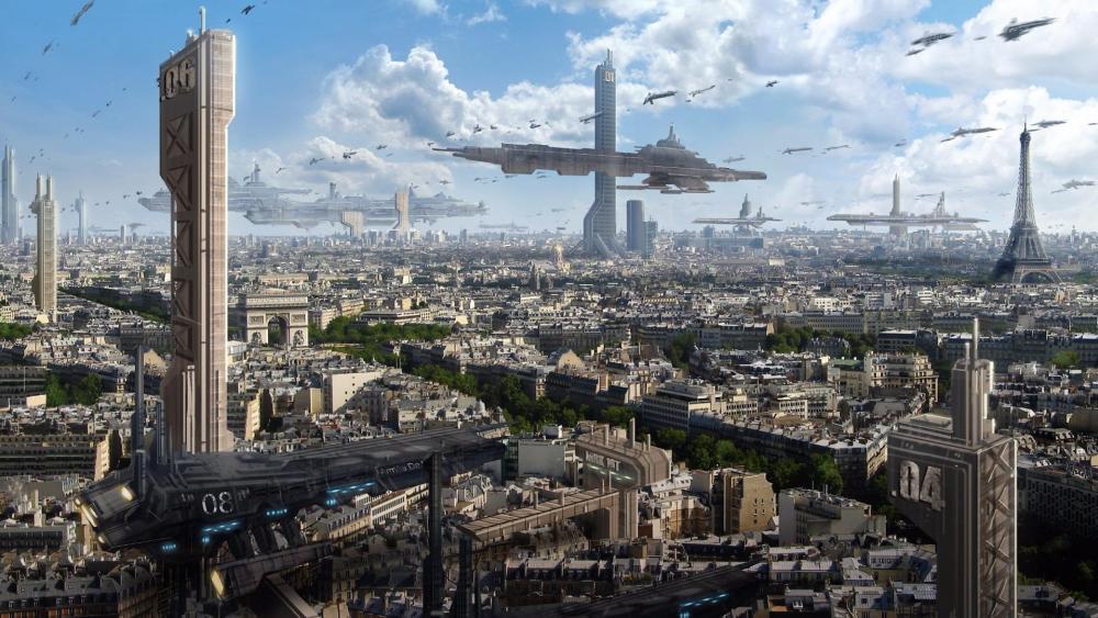 The future of Paris wallpaper