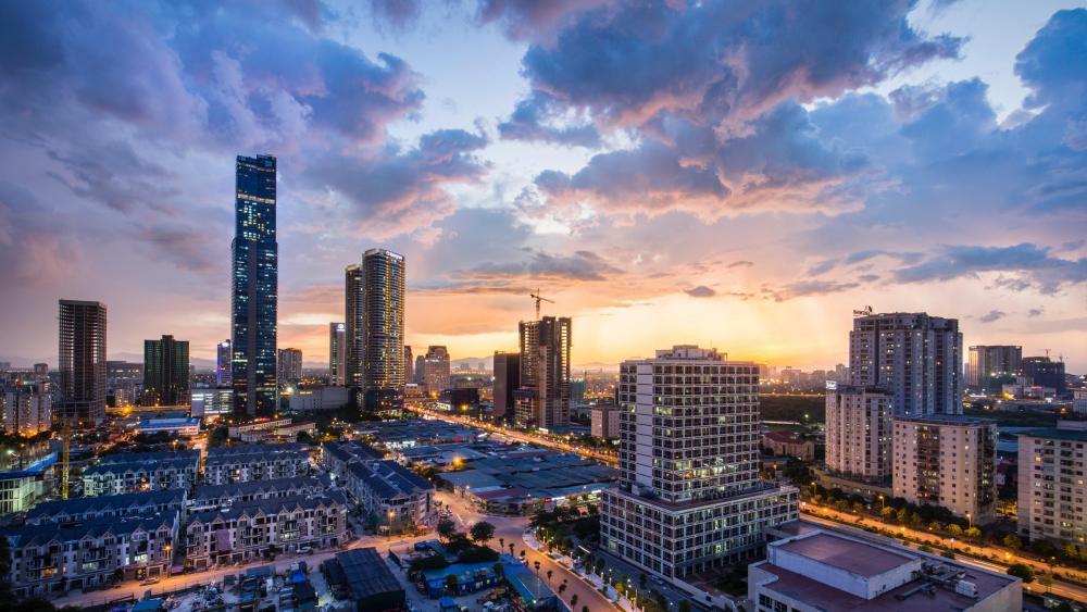 Hanoi cityscape wallpaper