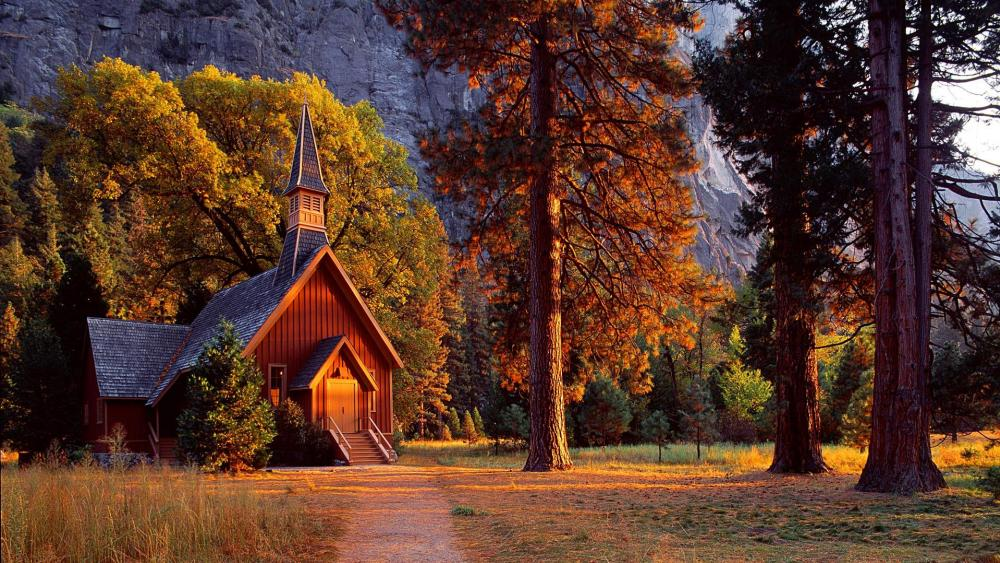 Yosemite Valley Chapel - Yosemite National Park wallpaper