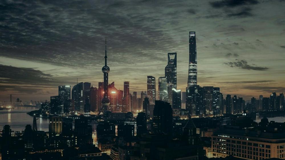 Downtown of Shanghai wallpaper