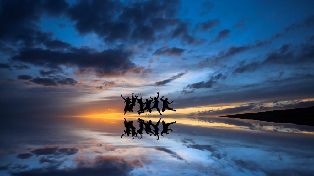 Mirror of the sky wallpaper