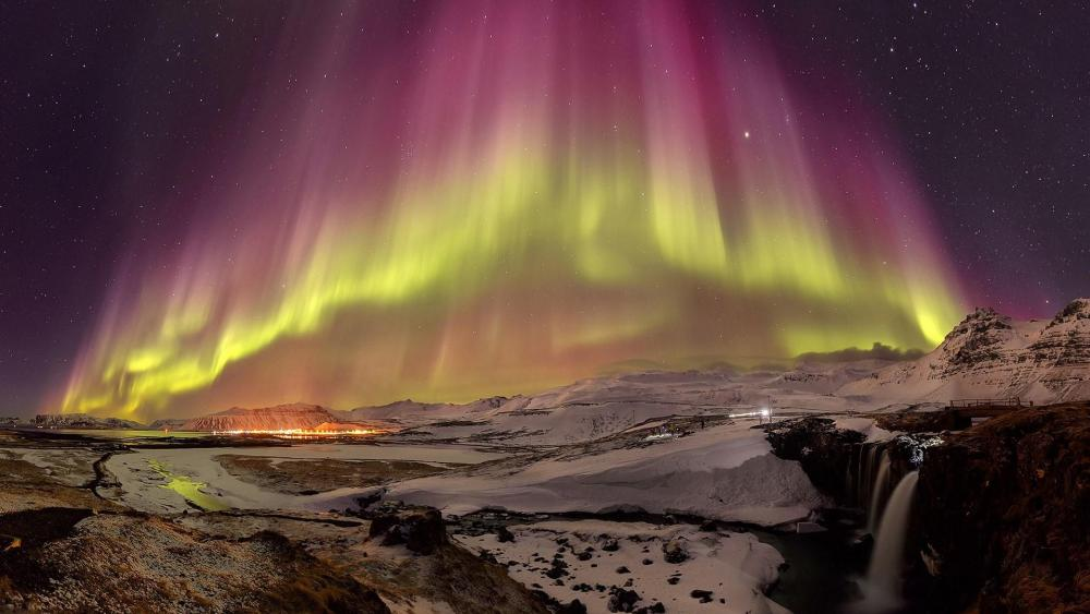 Islandia Northern Lights wallpaper