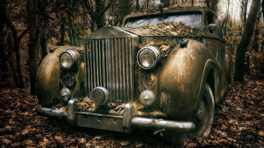 Rolls Royce classic car wallpaper
