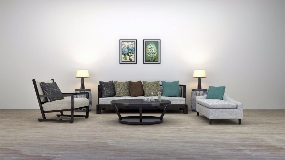 Lliving room design wallpaper