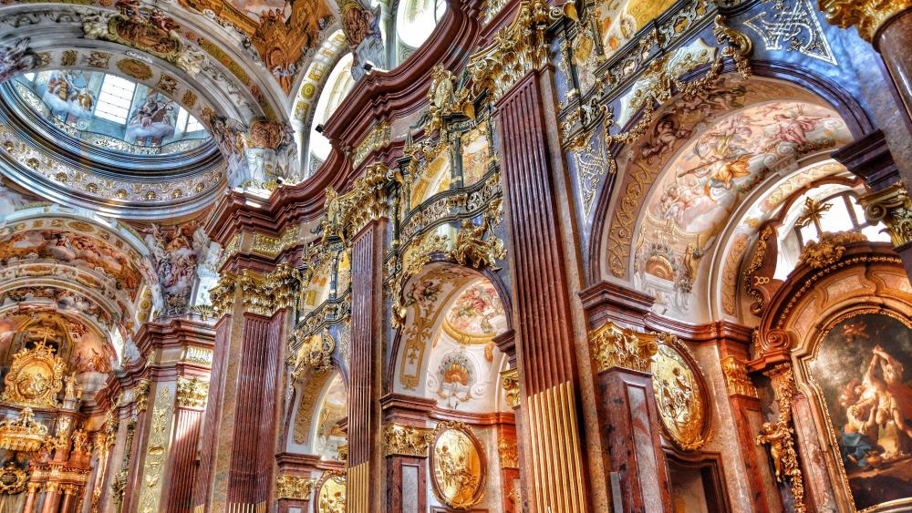 Melk Abbey inside wallpaper