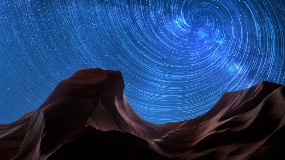 Antelope Canyon stars wallpaper