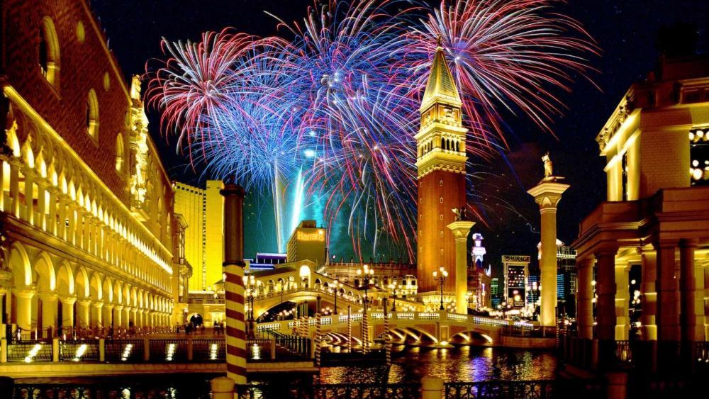 Venice Fireworks wallpaper
