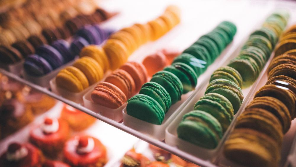 Colorful desserts wallpaper