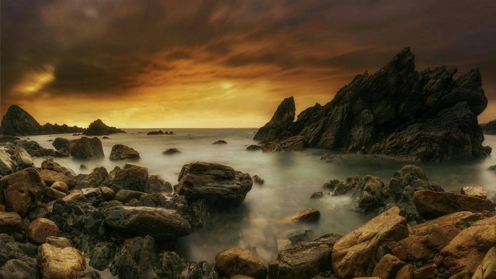 Buelna Beach - Asturias, Spain wallpaper