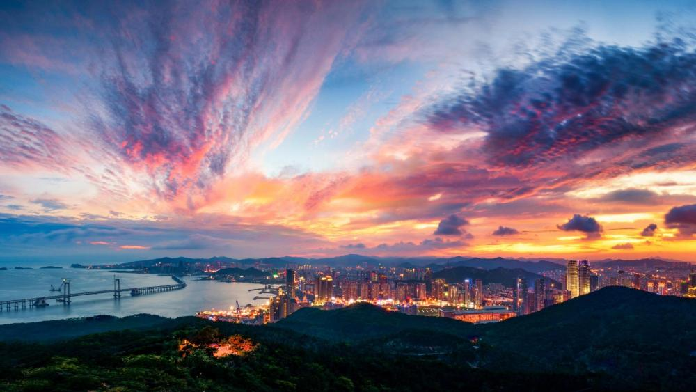 Hangzhou bay bridge wallpaper