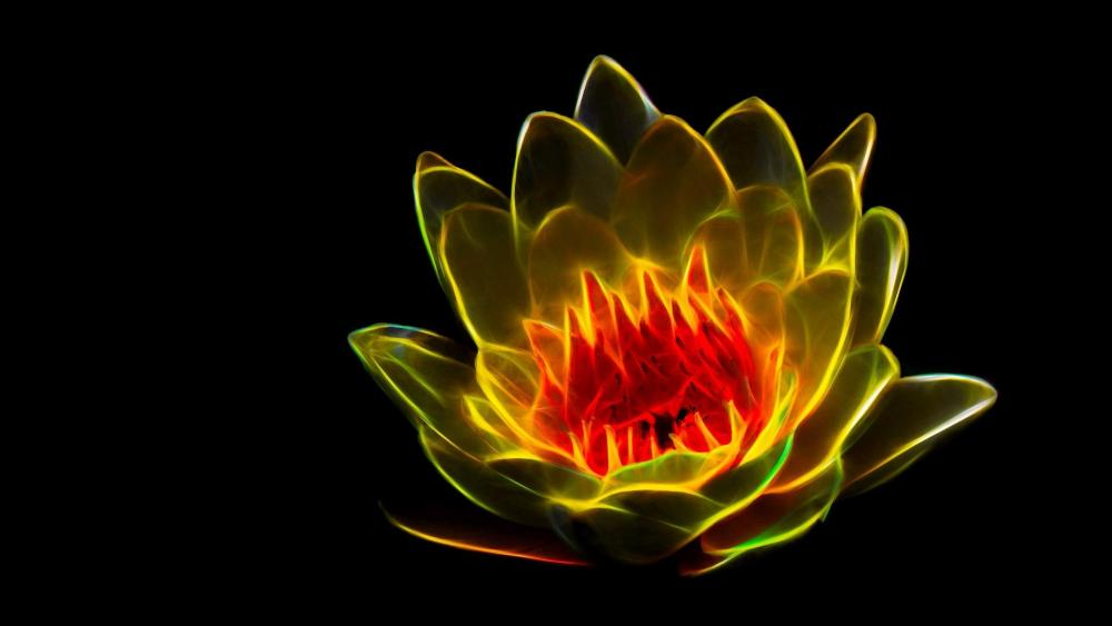 Lotus flower - Abstract art wallpaper