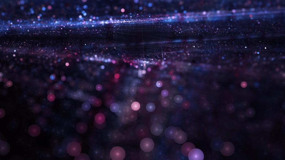 Glittering particles wallpaper