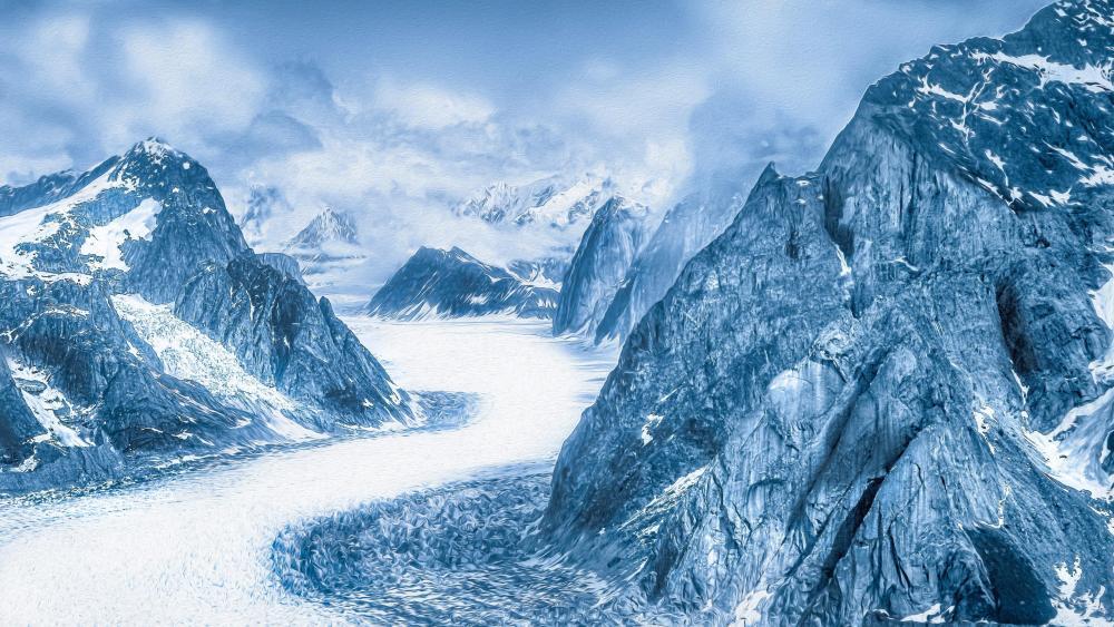 Alaska glacier wallpaper
