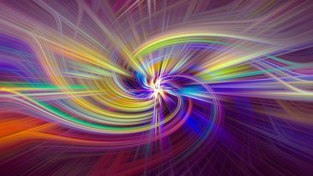 Colorful vortex wallpaper