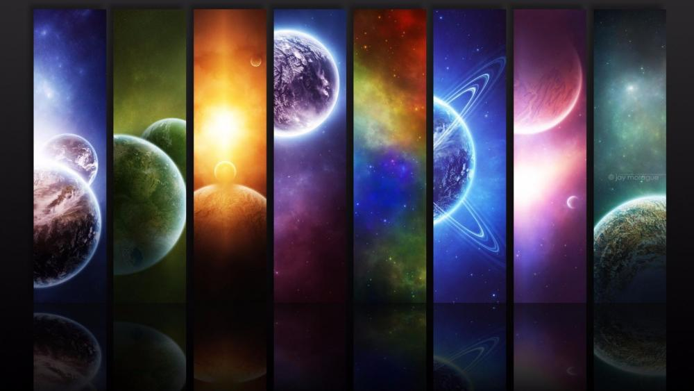 The solar system eight planets wallpaper